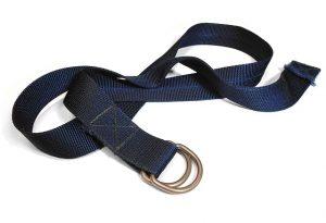 A black lifting strap.