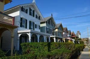 A row of houses in Cape May, which is one of the places to explore after moving to New Jersey.