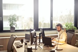 A virtual assistant can help you from home office.