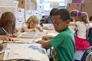 Children learning.