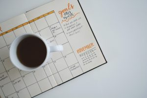 coffee and a planner