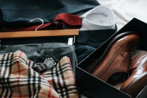 Some clothing items packed in accordance with some packing tips